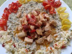 Mliečna ryža so syrom s modrou plesňou a kuracími kúskami (fotorecept) - Recept