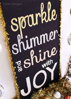 Make one for EBoard to Hold up during the photo shoot! Super cute way to incorporate the chalkboard idea with a little sparkle :)