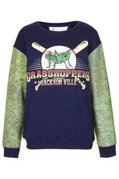 Grasshopper Sleeve Sweatshirt by Tee And Cake - Hoodies & Sweatshirts - Tops - Clothing
