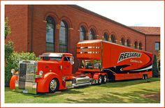 Peterbilt custom with custom trailer