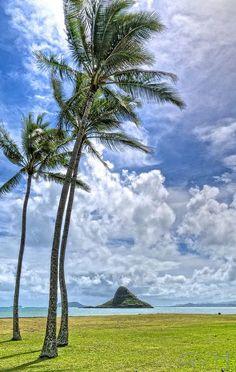 Mokolii, Chinaman's hat, Oahu, Hawaii, Kualoa Beach Park