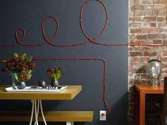 10 ideas para decorar la pared con cables. (Cable Drawing) | Mil Ideas de Decoración