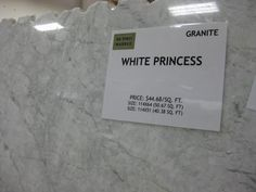 White princess granite (actually quartzite) - similar look to marble