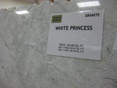 White princess granite (actually quartzite) - similar look to marble