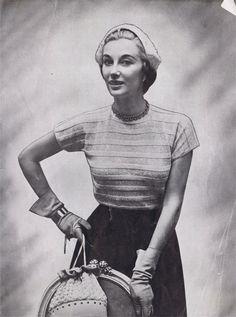 Vintage Knitting Patterns 1950's short by SleepingDoePatterns