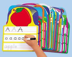 Lakeshore's Write & Wipe Alphabet Practice Cards are perfect for learning to print and building alphabet skills!
