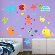 Restickable Turtle Time Wall Decor #BedroomDesign #WallGraphics #KidsRoom #Customized #KidsDecor #Bedroom - $55
