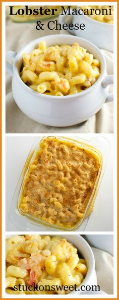 Buttery and Cheesy Lobster Macaroni and Cheese | stuckonsweet.com