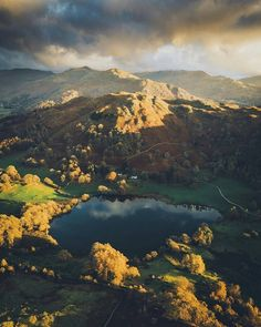 Loughrigg Tarn_England by Daniel Cassonon Cool Landscapes, Beautiful Landscapes, England Countryside, Holiday Places, Cumbria, Lake Life, Lake District, Nature Photos, Vacation Trips