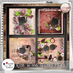 Rose wood Quicks pages by S.Designs