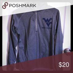 West Virginia quarter zip pull over Light weight gray West Virginia quarter zip pull over. Tops Sweatshirts & Hoodies