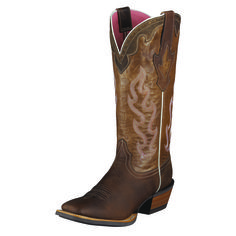 Cowgirl to the core with some extra heat. ATS technology for stability and comfort, long-wearing Duratread rubber soles: they're hard riding Ari...