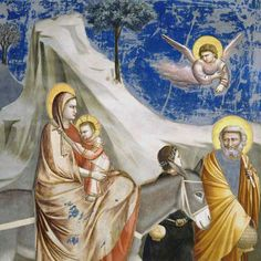 Cappella degli Scrovegni - Giotto - the flight into Egypt