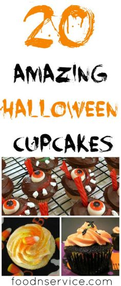 20 DIY Halloween cupcakes for kids #recipes #cupcakes #dessert #halloween