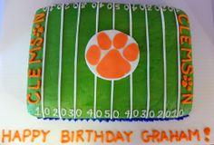 Clemson Football Field Cake