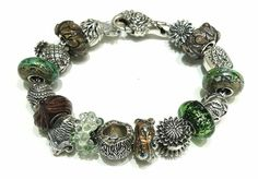 Bracciale in argento e beads Redbalifrog, vetri artigianali Alessia Fatone!  Facebook : Pianeta beads www.gold-jewels-italy.com