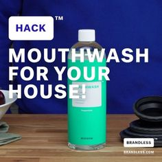 Did you know that mouthwash can be used to clean your home? Check it out! #housewash #brandlesslife