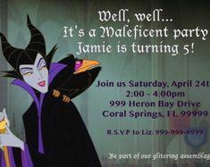 Original Maleficent from Disney's Slepping Beuty - Digital Printable Birthday Invitation