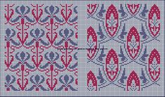 art nouveau cross stitch patterns borduurpatronen kruissteekpatronen - Crafting For Ideas