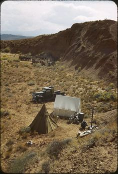 Desert camp and corral | University of Utah Marriott Library | J. Willard Marriott Digital Library Running Photos, Cattle Drive, University Of Utah, The Hard Way, Photo Archive, Outdoor Gear, Tent, Deserts, Camping