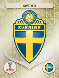 Sweden 2018 World Cup Finals card. World Cup Russia 2018, World Cup 2018, Fifa World Cup, Ronaldo Football, Football Team, Sweden Football, America Album, Mens World Cup, Word Cup