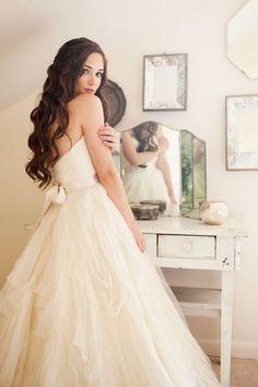 "Wedding Dress: Watters""Gabrielle"" // Vintage wedding inspiration ~ Christa Elyce Photography"