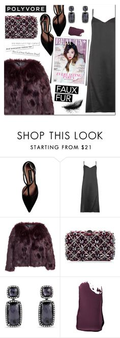 """""""Faux Fur Coat"""" by christinacastro830 ❤ liked on Polyvore featuring Steve Madden, Nina Ricci, H&M, Rodo, David Yurman, Smashbox, women's clothing, women, female and woman"""