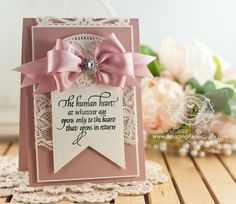 Card Making Ideas by Becca Feeken using Quietfire Design - The Human Heart and Spellbinders Baby Buntings, Spellbinders Elegant Ovals,  Spellbinders Captivating Squares, Spellbinders Adorning Accents - www.amazingpapergrace.com