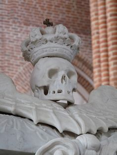 Detail from above crypt opening inside Roskilde Cathedral (Domkirke) in Roskilde, Denmark.