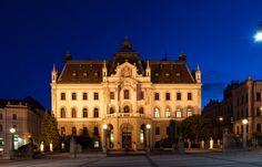 Provincial Mansion at Kongresni trg - the seat of the University of Ljubljana #Ljubljana #Slovenia #placestovisit #travel #thingstodo  #castle