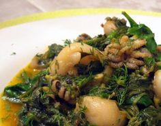 Cuttlefish With Spinach (Σουπιές-με-σπανάκι) - Kalofagas - Greek Food & Beyond Greek Recipes, Diet Recipes, Vegan Recipes, Recipies, Healthy Grains, Healthy Eating, Beyond Diet, Potato Rice, Cuttlefish