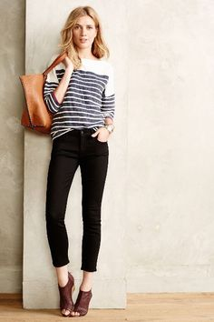 Mother Looker Cropped Skinny Jeans - anthropologie.com