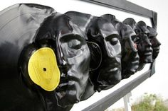 Dishfunctional Designs: Repurposed Vinyl LP Record Album Art. Angelo Bramanti and Giuseppe Siracusa are the brains behind L017 – a creative-collaborative that uses waste materials and recycled objects. Some of their incredible works of art include these sculptures made from recycled vinyl records. The records are melted down and shaped into interesting forms like bones, human figures, faces and more.