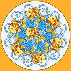 goldfish_mandala_colored.jpg (1200×1200)
