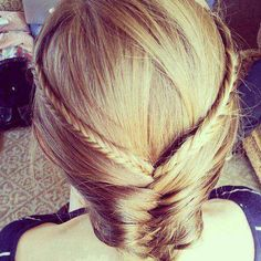 On my sister's hair so cute and easy! LOVE IT<3