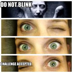 I should probably watch the Weeping Angels episodes on weekends because I will not be able to sleep after I watch them....or blink.