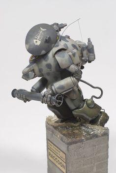 Ma.K. 1/20 scale S.A.F.S.-R Raccoon. By dainaka (大 仲) #Ma_K #Maschinen_Krieger #vignette #robot