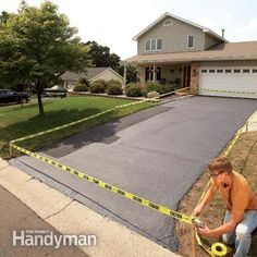 How to repair and reseal a driveway coats home and for Pouring your own concrete driveway