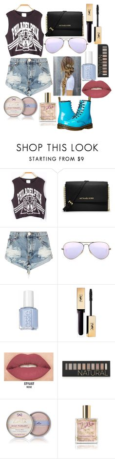 """Untitled #12"" by starry-night2021 ❤ liked on Polyvore featuring MICHAEL Michael Kors, OneTeaspoon, Ray-Ban, Smashbox, Forever 21 and Dr. Martens"
