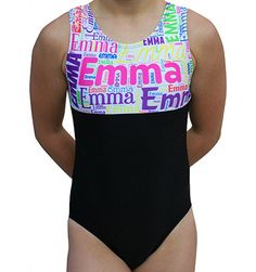 Gymnastics Leotard made with soft Black Matte Lycra and Printed Spandex. The back side is sold Black Lycra. Tank Style Leotard by AERO Leotards. Available in Sizes Child S - Adult Large *This custom personalized item ships in weeks. Gymnastics Wear, Gymnastics Party, Elite Gymnastics, Gymnastics Leotards, Gymnastics Crafts, Jazz Dance Costumes, Belly Dance Costumes, Salsa Dress, Tribal Belly Dance