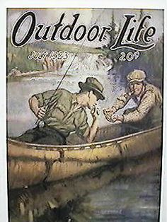 Outdoor Life 1923 Hunting Magazines, Fishing Magazines, Old Magazines, Canoeing, Kayaking, Magazine Art, Magazine Covers, Ocean Fabric, Life Cover