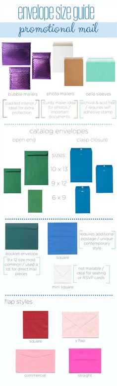 Envelope Size guide