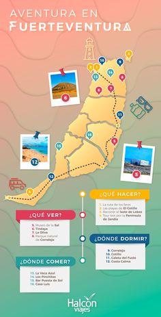 Estos son los must see de #fuerteventura que no te puedes perder #traveltips #fuerteventura #españa #infografia #islascanarias Travelling Tips, Europe Travel Tips, Travel Guide, Traveling, Tenerife, Canary Islands Fuerteventura, Kindergarten Math, Places To See, Travel Inspiration