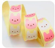 Kawaii Rabbit Stickers. This is way too cute!