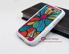 samsung Galaxy SIII Galaxy S3 i9300 Case unique Case Samsung Case Samsung case colorized curve design. $14.99, via Etsy.