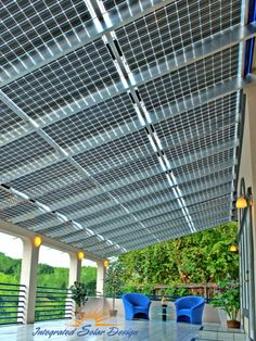Solar Awnings - would need to fold up from the top of the container to serve as shade for performers on top