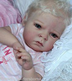 Sabrina schick reborn baby girl blonde beautiful Tamara auty flutterby hearts reborns