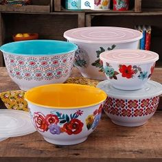 The Pioneer Woman Country Garden Nesting Mixing Bowl Set $24.50 (50% off) @ Walmart