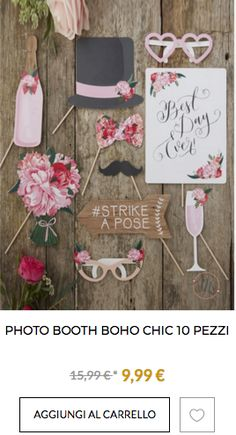 shop photo booth fai da te matrimonio