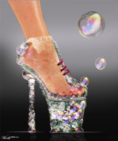 Bubble Shoe - Worth1000 Contests✖️More Pins Like This One At FOSTERGINGER @ Pinterest✖️